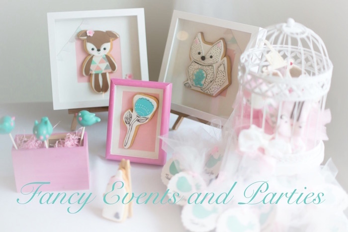 decor from a pastel woodland baby shower via kara 39 s party ideas