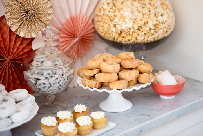 Sweets/snacks from a Peach + Coral Vintage Birthday Party via Kara's Party Ideas | KarasPartyIdeas.com - The Place for All Things Party! (17)