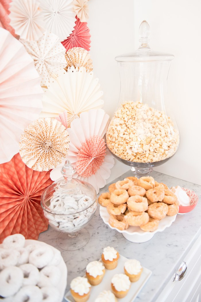 Sweets and snacks from a Peach + Coral Vintage Birthday Party via Kara's Party Ideas | KarasPartyIdeas.com - The Place for All Things Party! (15)