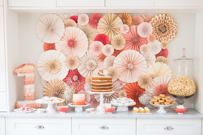 Peach + Coral Vintage Birthday Party via Kara's Party Ideas | KarasPartyIdeas.com - The Place for All Things Party! (28)
