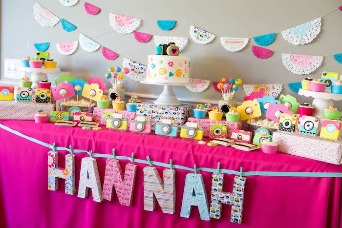 Kara S Party Ideas Photography Instagram Camera Themed Birthday