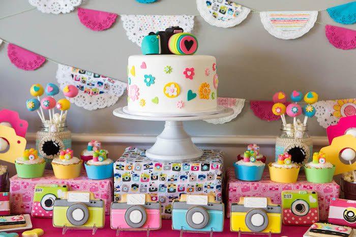 kara u0026 39 s party ideas photography   instagram camera themed birthday party