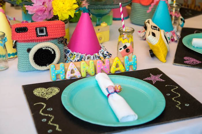 Place Setting From A Photography Instagram Camera Themed Birthday Party Via Karas Ideas