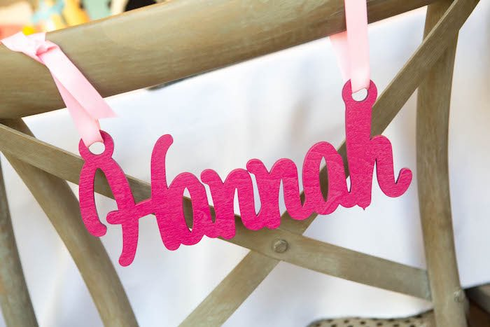 Wooden nameplate from a Photography + Instagram Camera Themed Birthday Party via Kara's Party Ideas - KarasPartyIdeas.com (7)
