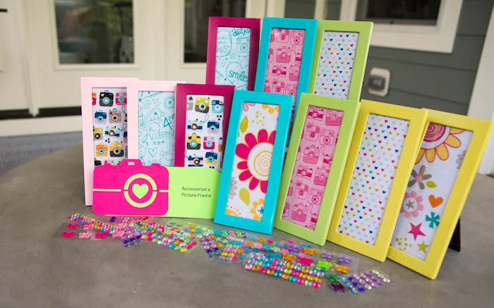 Picture frame activity from a Photography + Instagram Camera Themed Birthday Party via Kara's Party Ideas - KarasPartyIdeas.com (43)