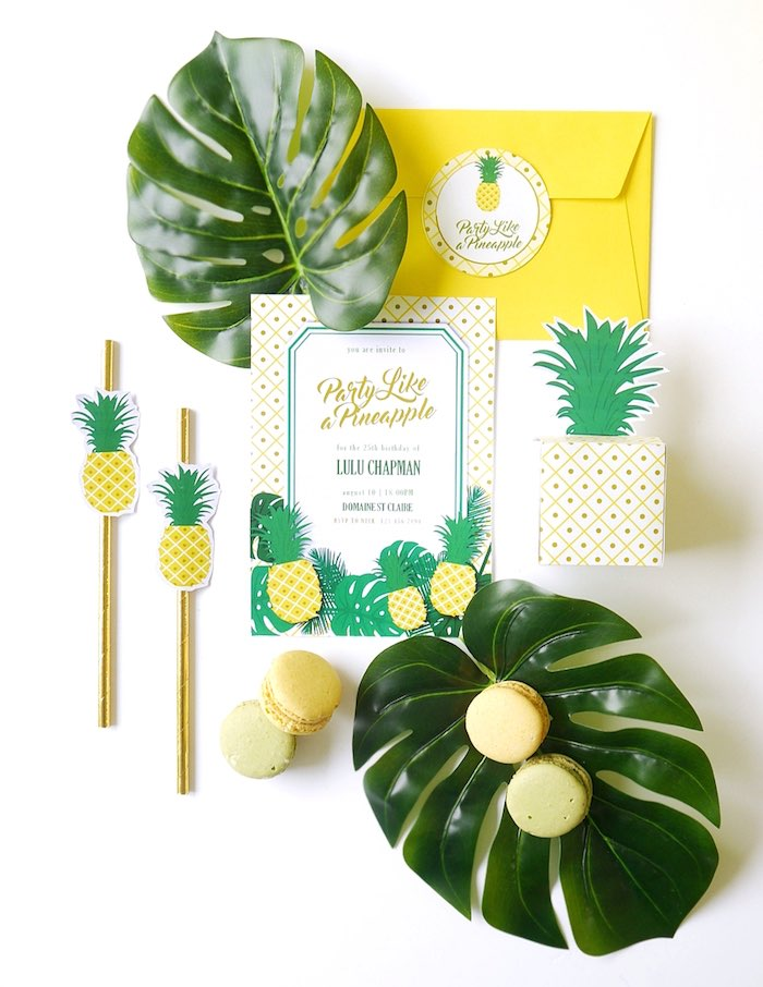 Pineapple printables + stationery from a Pineapple Birthday Party via Kara's Party Ideas KarasPartyIdeas.com (18)
