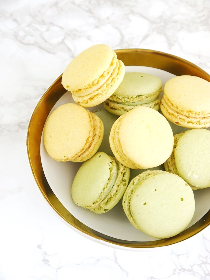Macarons from a Pineapple Birthday Party via Kara's Party Ideas KarasPartyIdeas.com (16)