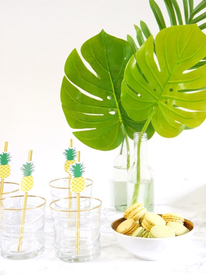 Party details from a Pineapple Birthday Party via Kara's Party Ideas KarasPartyIdeas.com (14)