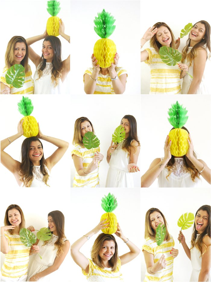 Pineapple poses from a Pineapple Birthday Party via Kara's Party Ideas KarasPartyIdeas.com (13)