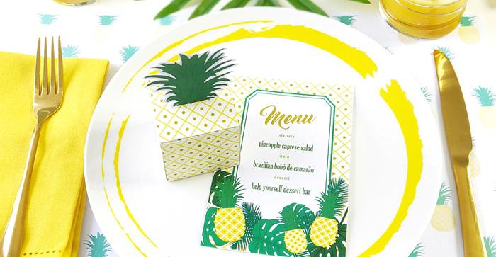 Pineapple Birthday Party via Kara's Party Ideas KarasPartyIdeas.com (2)