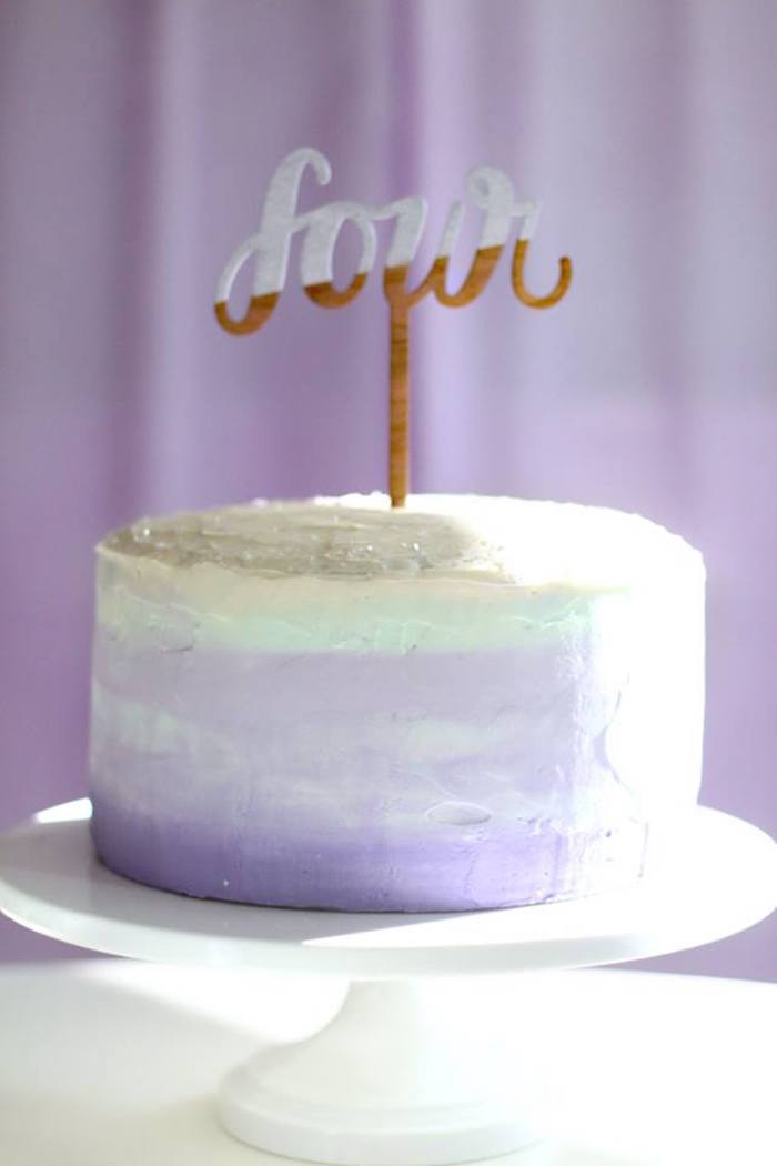 Purple ombre cake from a Popcorn & Pajamas Purple Movie Night via Kara's Party Ideas | KarasPartyIdeas.com (26)