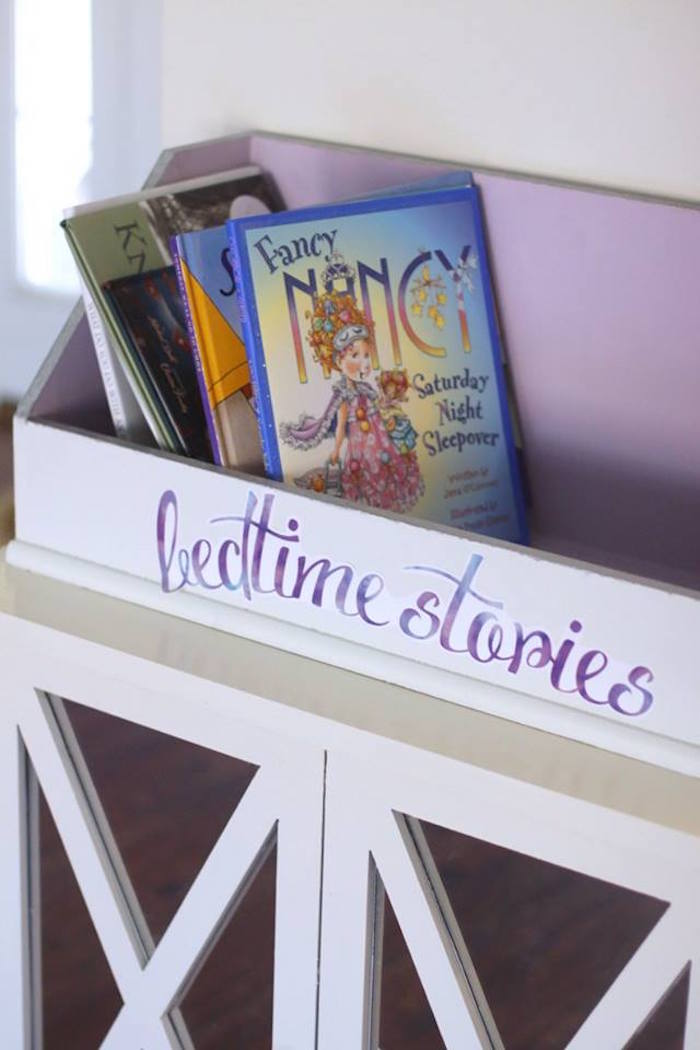 Bedtime stories from a Popcorn & Pajamas Purple Movie Night via Kara's Party Ideas | KarasPartyIdeas.com (19)