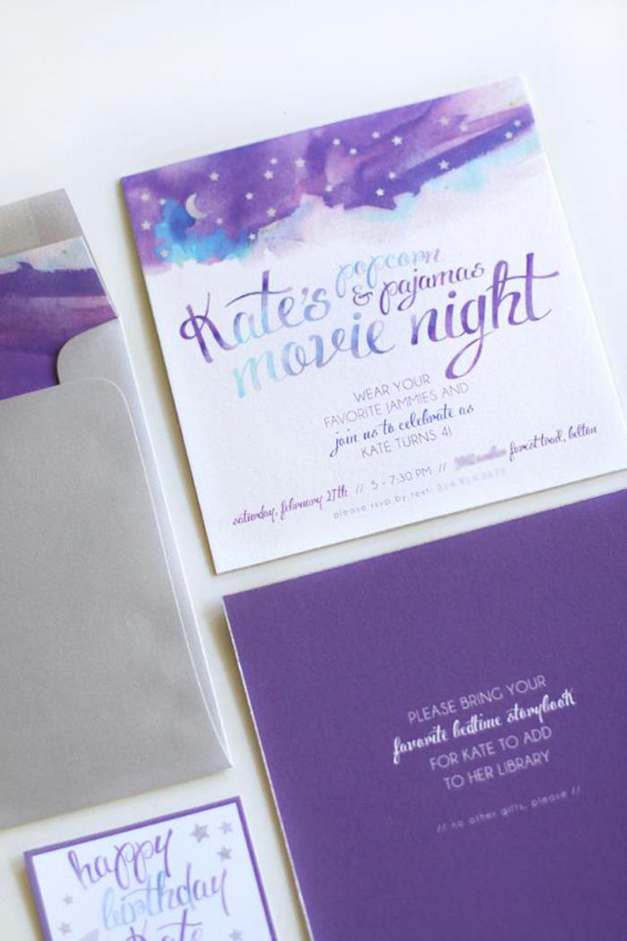 kara u0026 39 s party ideas popcorn  u0026 pajamas purple movie night