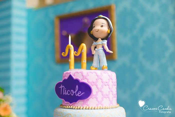 Kara S Party Ideas Colorful Princess Jasmine Birthday Party