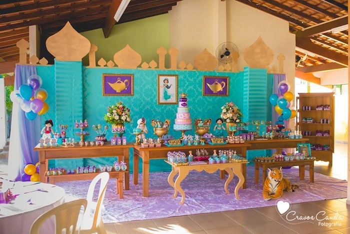 Royal Palace Dessert Table From A Princess Jasmine Birthday Party Via Karas Ideas KarasPartyIdeas