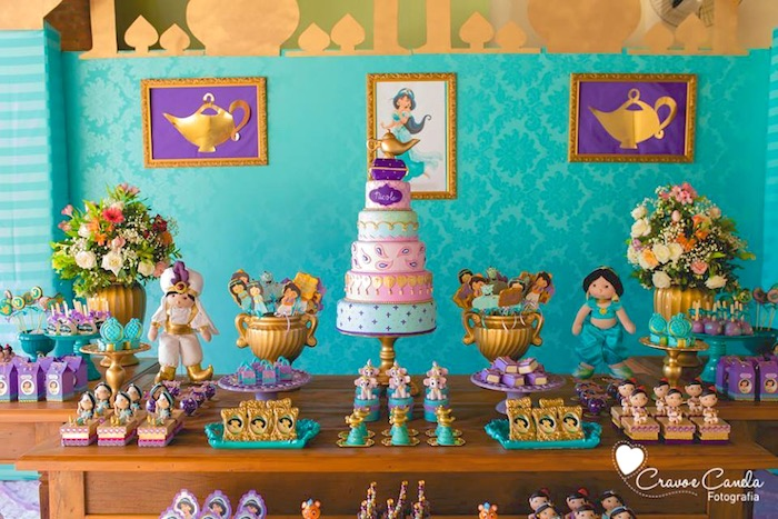 Dessert Tablescape From A Princess Jasmine Birthday Party Via Karas Ideas KarasPartyIdeas