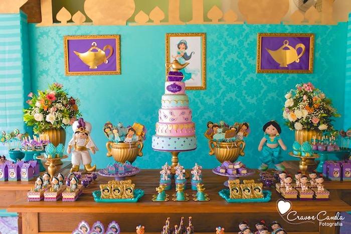 Kara's Party Ideas Colorful Princess Jasmine Birthday ...