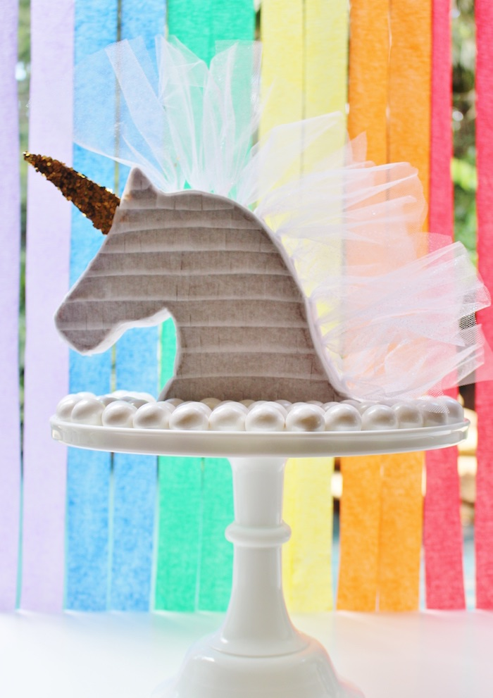 Kara S Party Ideas Sparkly Rainbow Unicorn Birthday Party