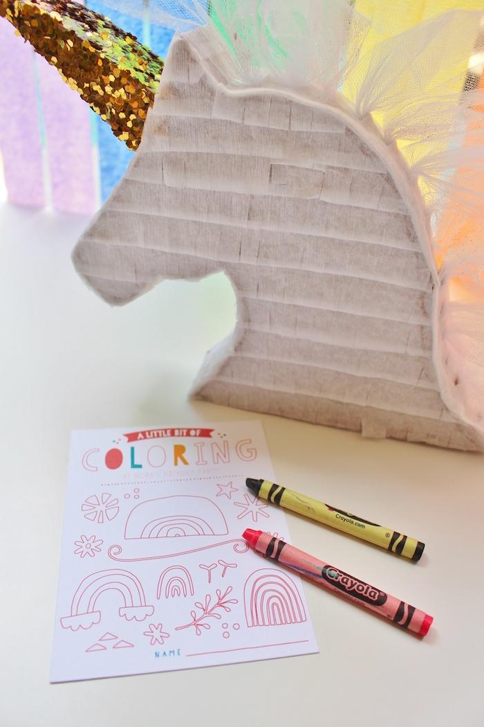 Kara S Party Ideas Sparkly Rainbow Unicorn Birthday Party