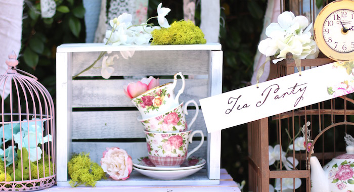 Shabby Chic Alice in Wonderland Baby Shower on Kara's Party Ideas | KarasPartyIdeas.com (2)