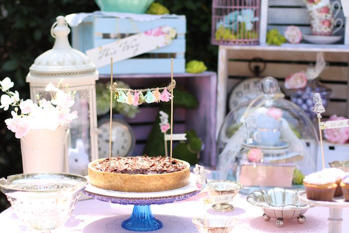 Karas Party Ideas Shabby Chic Alice In Wonderland Baby Shower