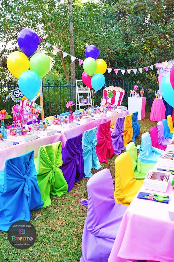 Party table from a Shopkins Birthday Party via Kara's Party Ideas | KarasPartyIdeas.com (16)