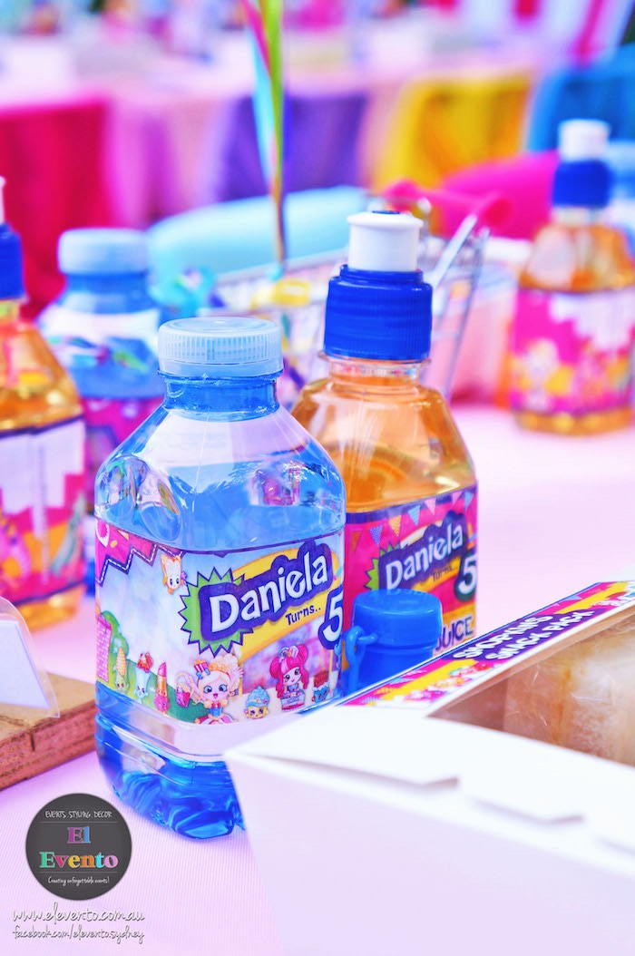 Drinks from a Shopkins Birthday Party via Kara's Party Ideas | KarasPartyIdeas.com (15)