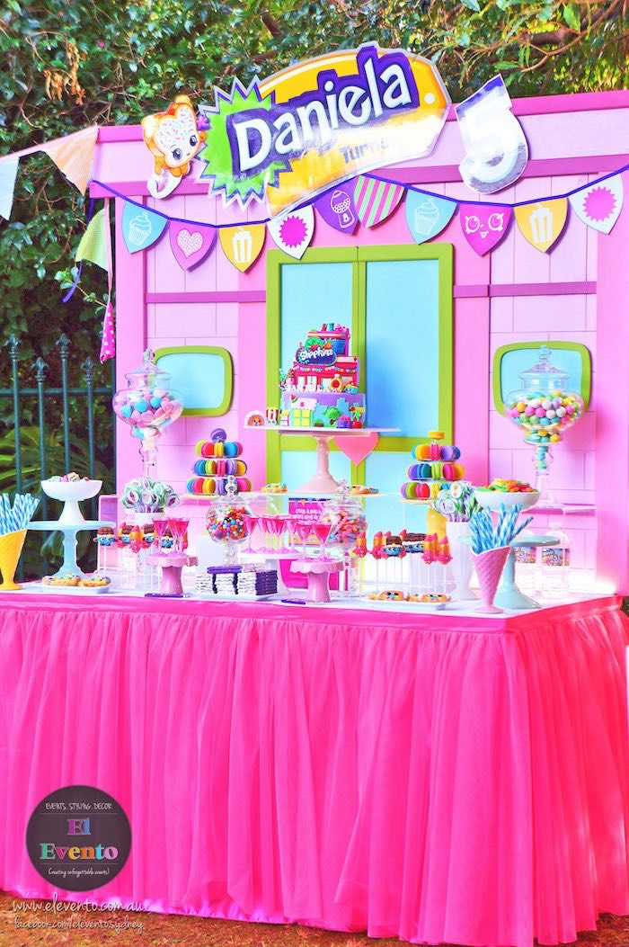 Shopkins shop dessert table from a Shopkins Birthday Party via Kara's Party Ideas | KarasPartyIdeas.com (12)