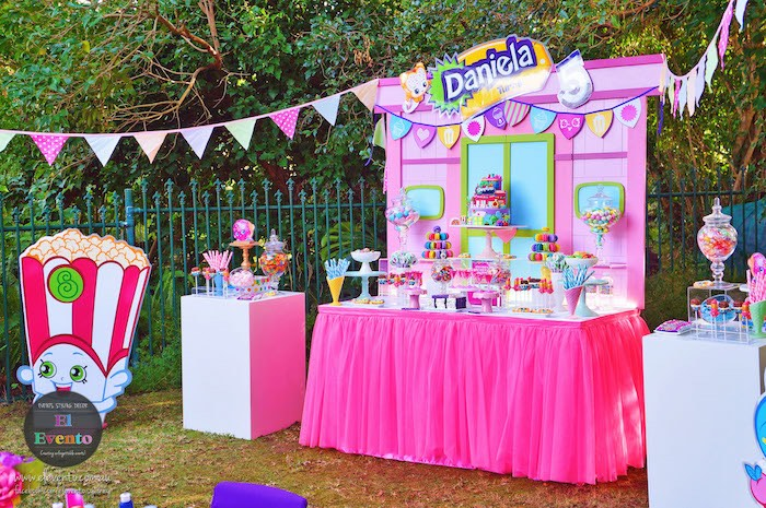 Shopkins shop dessert table from a Shopkins Birthday Party via Kara's Party Ideas | KarasPartyIdeas.com (11)