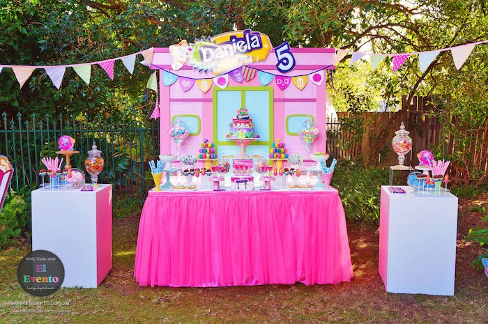 Dessert table from a Shopkins Birthday Party via Kara's Party Ideas | KarasPartyIdeas.com (29)