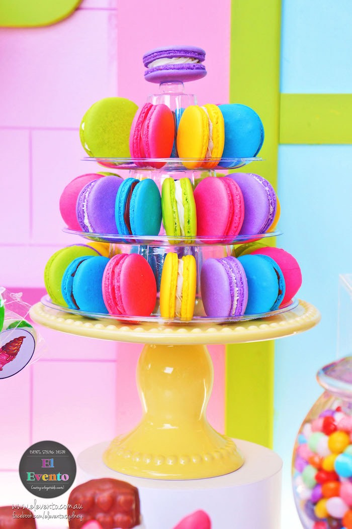 Colorful macarons from a Shopkins Birthday Party via Kara's Party Ideas | KarasPartyIdeas.com (8)
