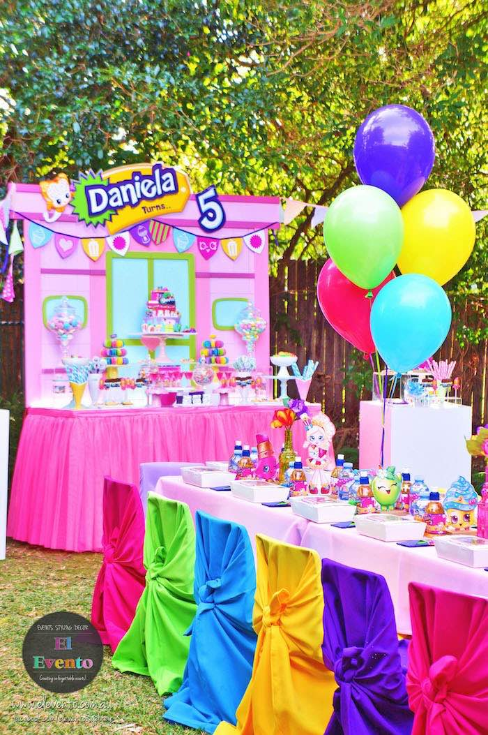 Party tables from a Shopkins Birthday Party via Kara's Party Ideas | KarasPartyIdeas.com (4)
