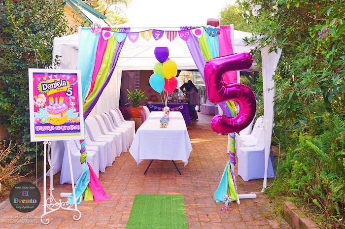 Tented area from a Shopkins Birthday Party via Kara's Party Ideas | KarasPartyIdeas.com (28)