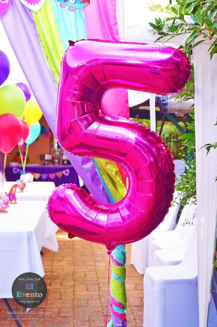 Pink mylar balloon from a Shopkins Birthday Party via Kara's Party Ideas | KarasPartyIdeas.com (27)