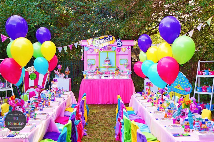 Party tables from a Shopkins Birthday Party via Kara's Party Ideas | KarasPartyIdeas.com (23)