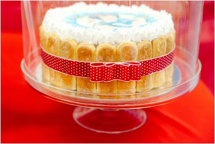 Cake from a Crimson Red Snow White Birthday Party via Kara's Party Ideas | KarasPartyIdeas.com - The Place for All Things Party! (9)