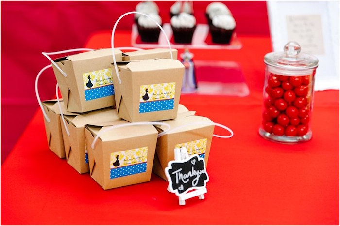 Favor boxes from a Crimson Red Snow White Birthday Party via Kara's Party Ideas | KarasPartyIdeas.com - The Place for All Things Party! (14)