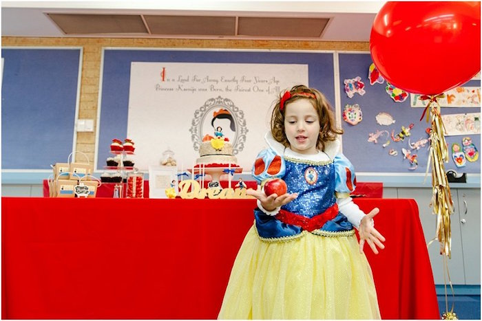 Crimson Red Snow White Birthday Party via Kara's Party Ideas | KarasPartyIdeas.com - The Place for All Things Party! (11)