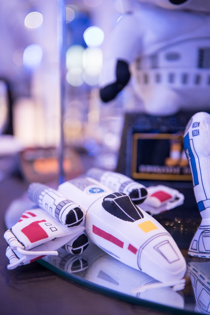 Plush spaceship from a Star Wars Birthday Party via Kara's Party Ideas | KarasPartyIdeas.com (36)