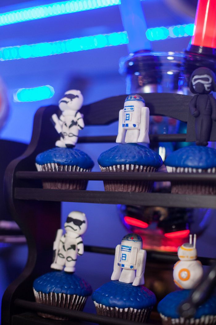 Cupcakes from a Star Wars Birthday Party via Kara's Party Ideas | KarasPartyIdeas.com (34)
