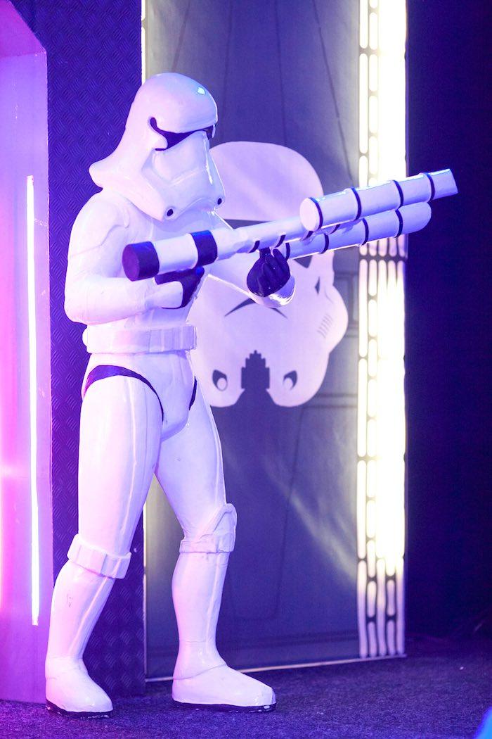 Storm Trooper from a Star Wars Birthday Party via Kara's Party Ideas | KarasPartyIdeas.com (33)