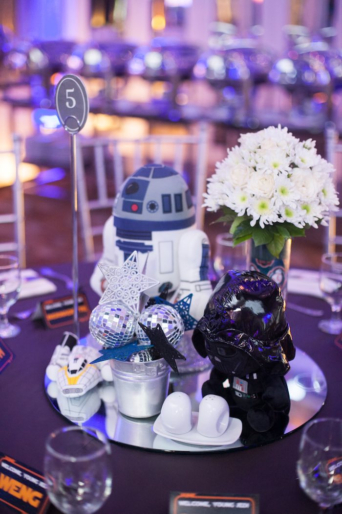 Karas Party Ideas Blue and Silver Star Wars Birthday Party Karas