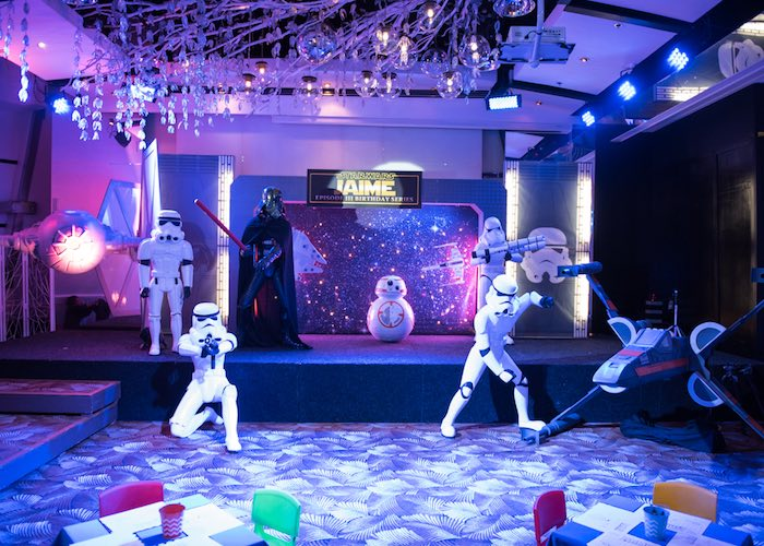 Party stage from a Star Wars Birthday Party via Kara's Party Ideas | KarasPartyIdeas.com (28)