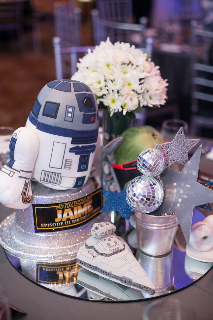 Table centerpieces from a Star Wars Birthday Party via Kara's Party Ideas | KarasPartyIdeas.com (46)