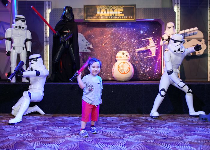 Party stage from a Star Wars Birthday Party via Kara's Party Ideas | KarasPartyIdeas.com (21)
