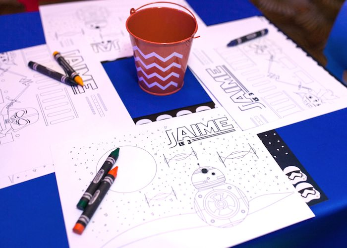 Coloring pages from a Star Wars Birthday Party via Kara's Party Ideas | KarasPartyIdeas.com (20)