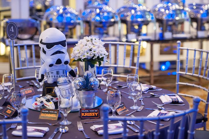 Guest table from a Star Wars Birthday Party via Kara's Party Ideas | KarasPartyIdeas.com (45)