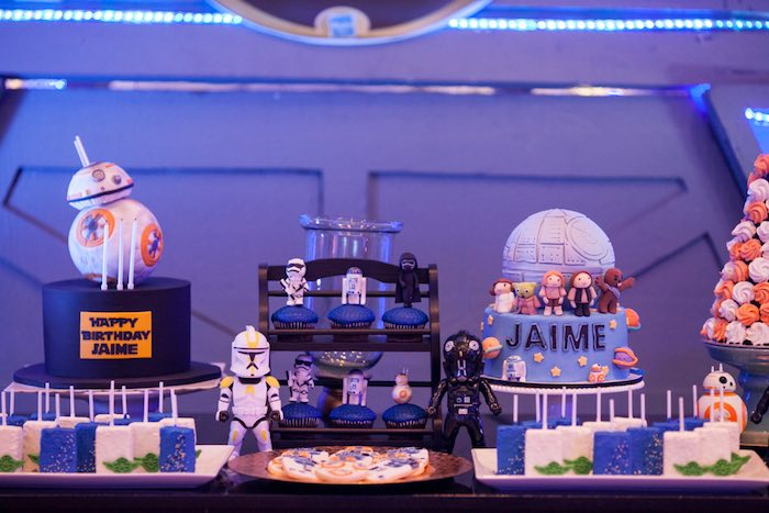 Sweet table from a Star Wars Birthday Party via Kara's Party Ideas | KarasPartyIdeas.com (15)