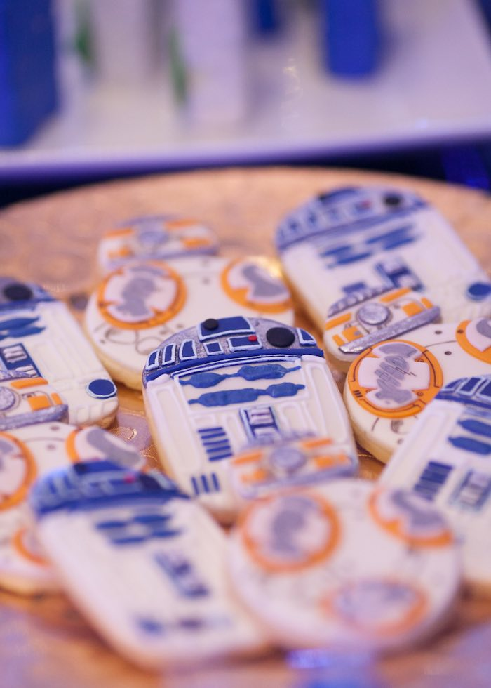 R2D2 cookie from a Star Wars Birthday Party via Kara's Party Ideas | KarasPartyIdeas.com (12)