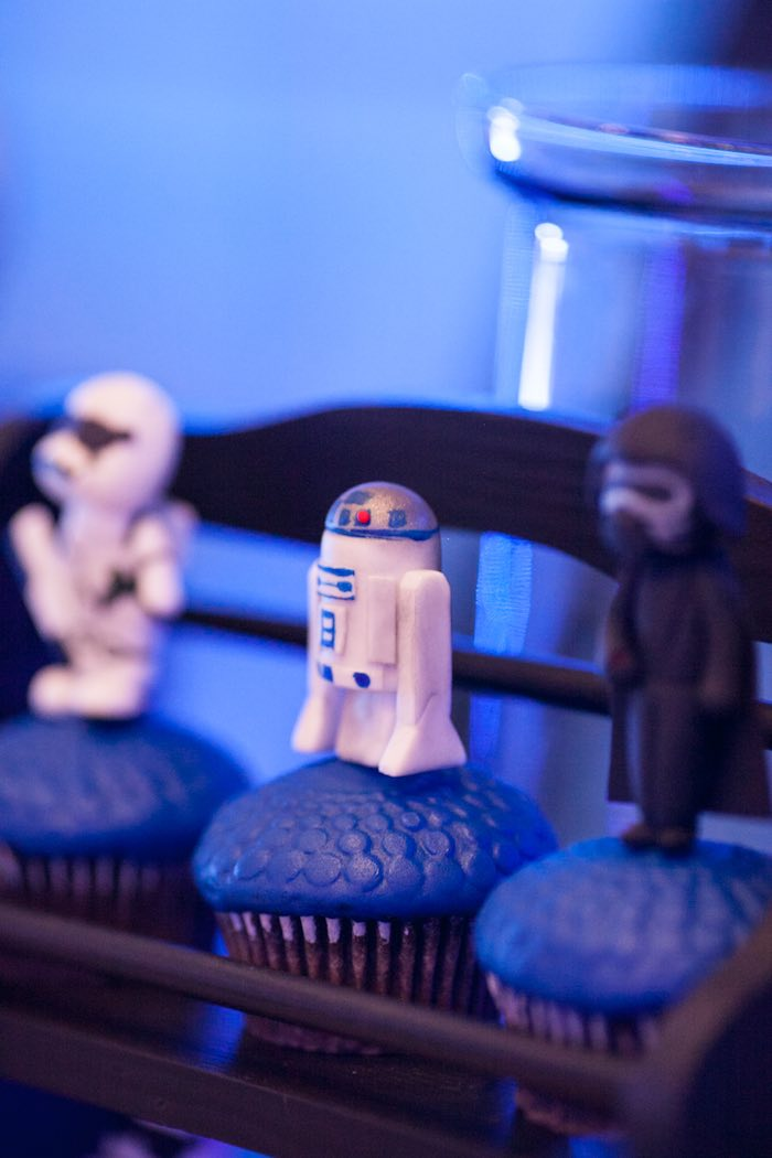 Cupcakes from a Star Wars Birthday Party via Kara's Party Ideas | KarasPartyIdeas.com (10)